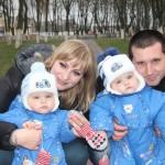 Ляховичане Игорь и Анастасия Сливы – счастливые родители близнецов Димы и Дениса, которым 31 декабря исполняется ровно год